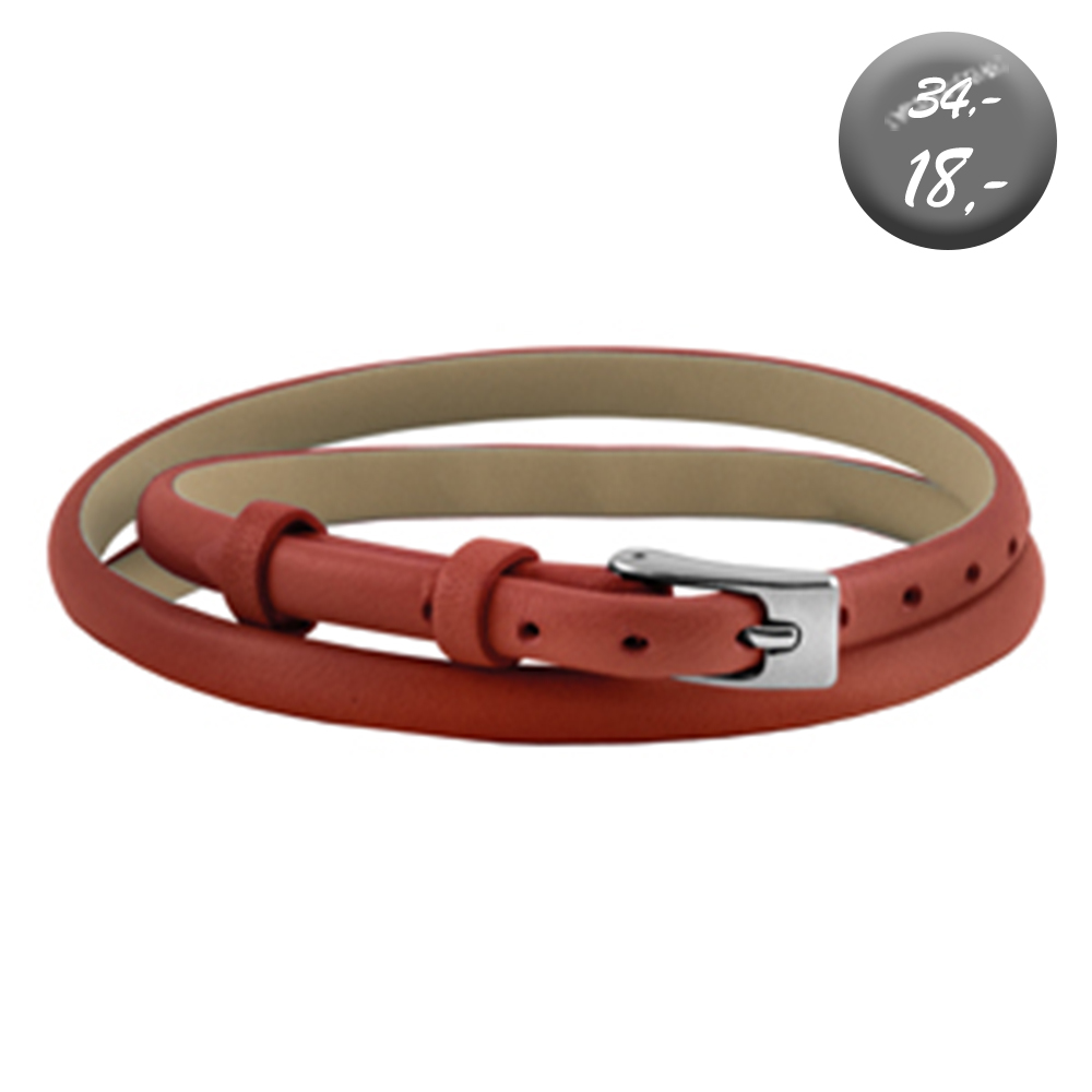 ***Armband - Leather rood)***